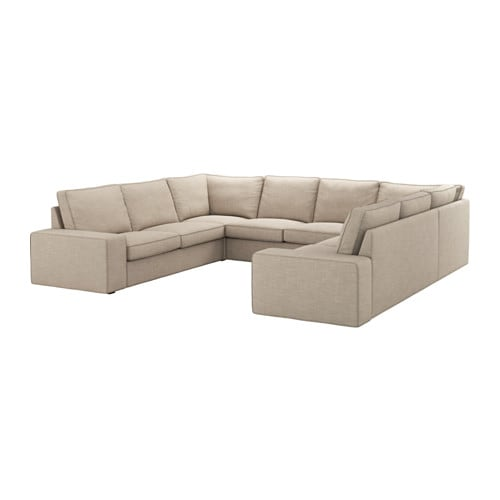 Kivik sectional 6 seat 6 seat hillared beige ikea for Canape equipment