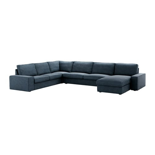 kivik sectional 5 seat hillared dark blue ikea. Black Bedroom Furniture Sets. Home Design Ideas