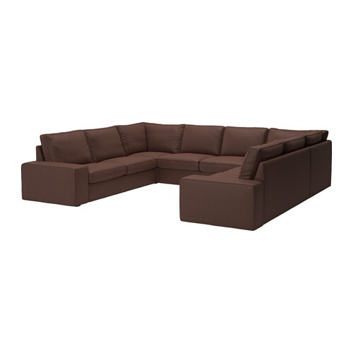 KIVIK Sectional, 6 seat, Borred 6-seat dark brown Borred dark brown