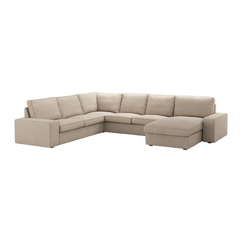 Kivik sectional 5 seat corner with chaise hillared for Chaise 65 cm ikea