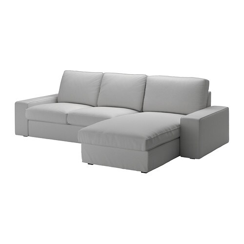 Kivik sectional 3 seat orrsta light gray ikea - Chaise longue modernos ...