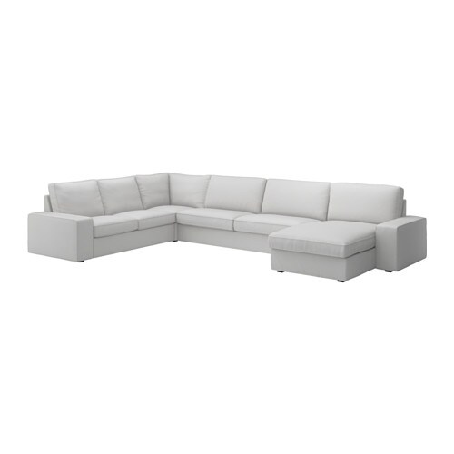 KIVIK Sectional, 5-seat, Orrsta with chaise, Orrsta light gray with chaise/Orrsta light gray