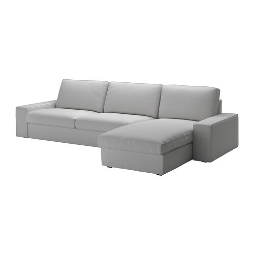 kivik sofa and chaise orrsta light gray ikea. Black Bedroom Furniture Sets. Home Design Ideas