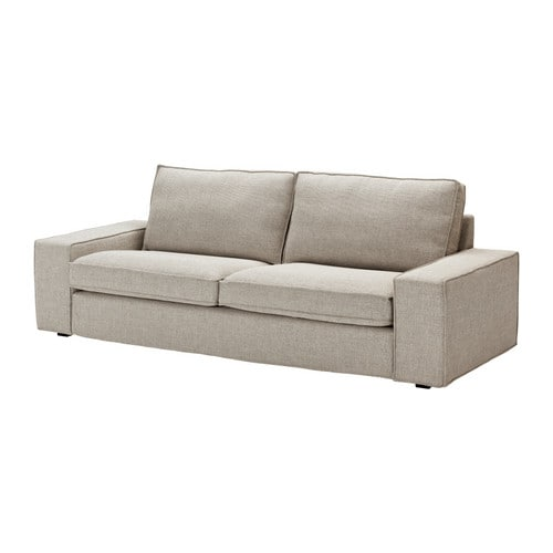 Fabric three seater sofas ikea for Ikea gray sofa