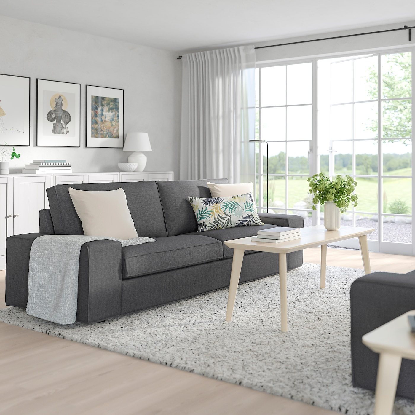 KIVIK Sofa, Skiftebo Dark Gray - IKEA