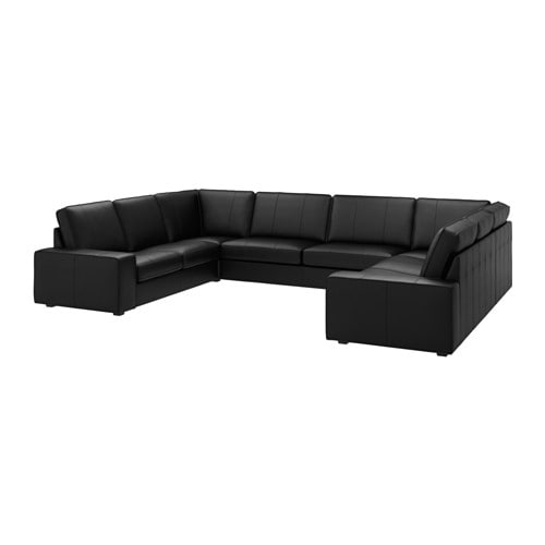 kivik sofa u shaped 9 seater grann bomstad black ikea. Black Bedroom Furniture Sets. Home Design Ideas