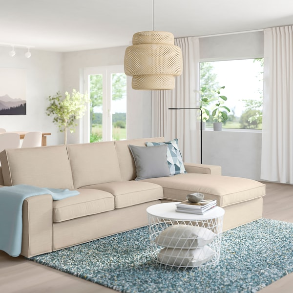KIVIK Sofa, with chaise/Hillared beige