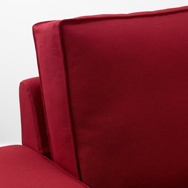 KIVIK Sofa, with chaise/Orrsta red
