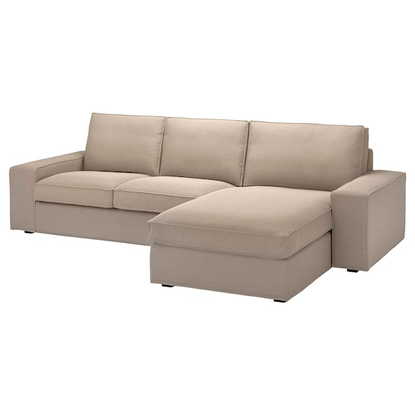 KIVIK Sofa, with chaise/Tallmyra beige
