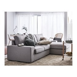 KIVIK   Sofa, Orrsta With Chaise, Orrsta Light Gray
