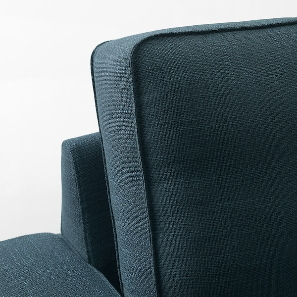 """KIVIK sofa Hillared dark blue 89 3/4 """" 37 3/8 """" 32 5/8 """" 70 7/8 """" 23 5/8 """" 17 3/4 """""""