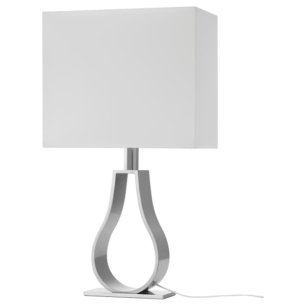 Klabb Table Lamp With Led Bulb Off White Nickel Plated Ikea