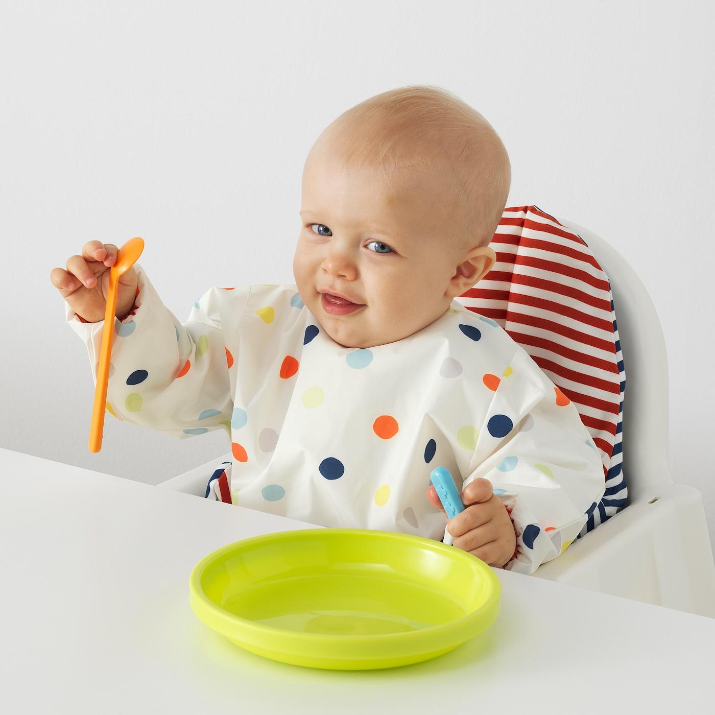 Age 0-18 Months Baby Toddler Children Kids Waterproof Play Apron Red Painting Feeding Smock Cooking Baking Bib