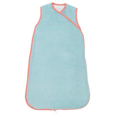 KLÄMMIG Wearable blanket, turquoise/red, 0-6