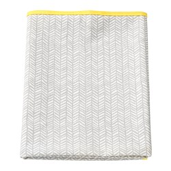 KLÄMMIG changing pad, gray, yellow
