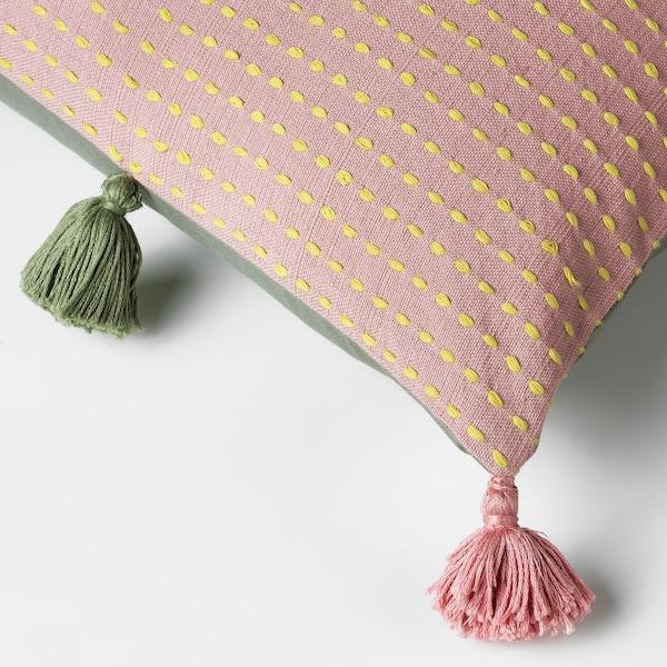"KLARAFINA cushion cover handmade pink/green 20 "" 20 """