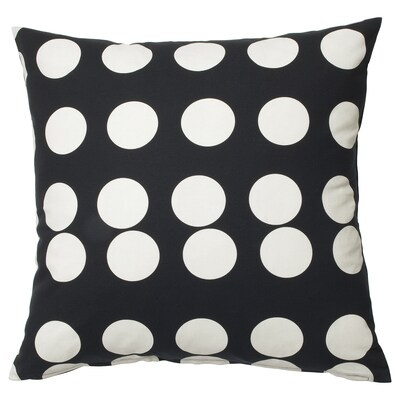 "KLARASTINA Cushion cover, black/white, 20x20 """