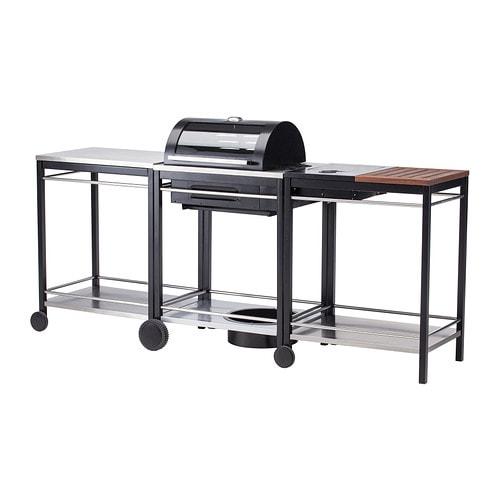 klasen gas grill with side burner cart stainless steel ikea. Black Bedroom Furniture Sets. Home Design Ideas