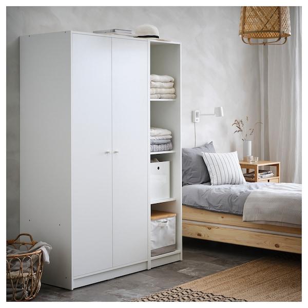 "KLEPPSTAD Wardrobe with 2 doors, white, 31 1/4x69 1/4 """