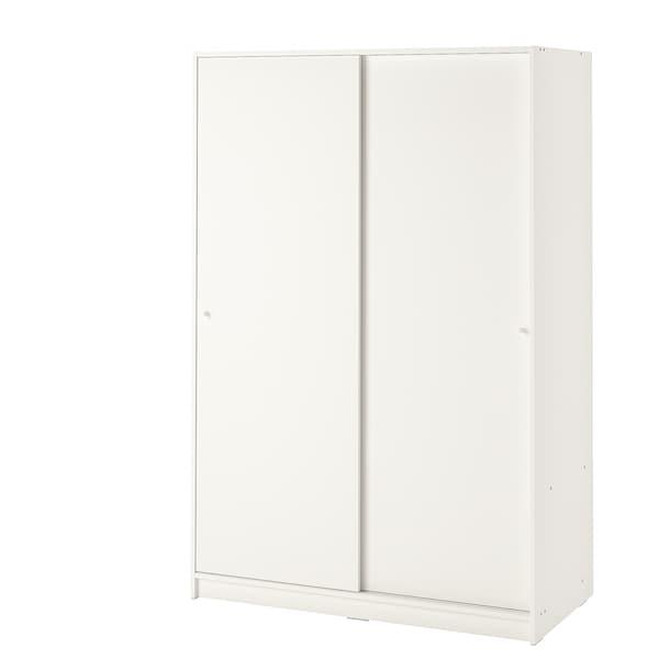 "KLEPPSTAD Wardrobe with sliding doors, white, 46 1/8x69 1/4 """