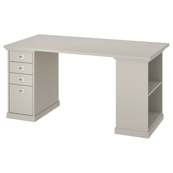 KLIMPEN Table, light gray, 59x29 1/2 ""