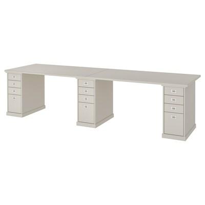 "KLIMPEN table light gray 118 1/8 "" 29 1/2 "" 28 3/4 "" 110 lb 4 oz"