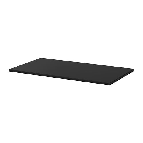 Klimpen table top black ikea for Table 80x120