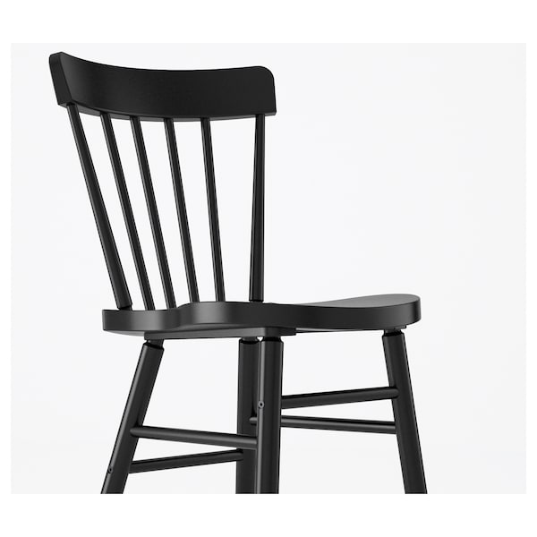 """KLIMPFJÄLL / NORRARYD Table and 6 chairs, gray-brown/black, 94 1/2x37 3/8 """""""