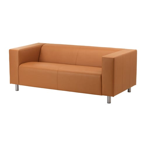 Klippan loveseat kimstad light brown ikea for Ikea sofas en cuir