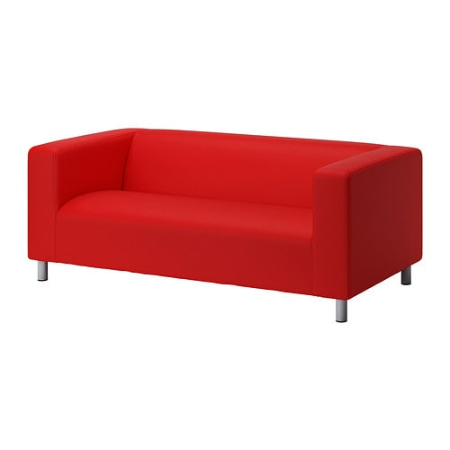 Klippan loveseat cover vissle red orange ikea Klippan loveseat covers