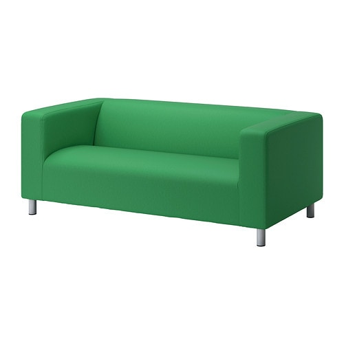 Klippan loveseat vissle green ikea for Housse sofa ikea