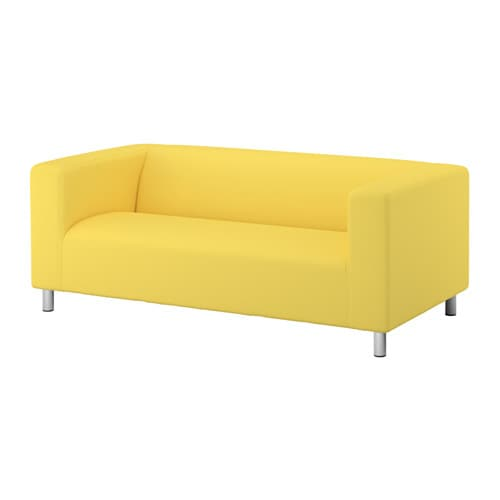 klippan loveseat vissle yellow ikea. Black Bedroom Furniture Sets. Home Design Ideas