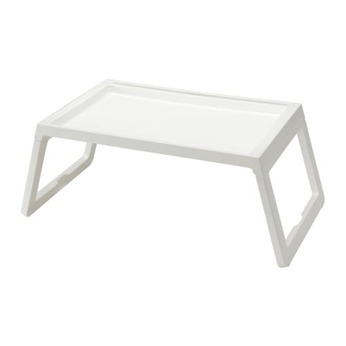 KLIPSK Bed tray, white