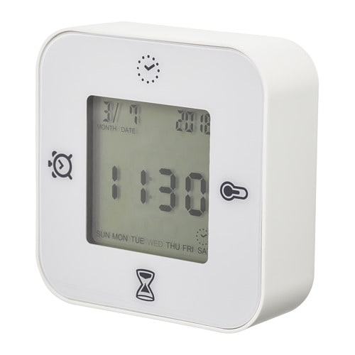 klockis clock thermometer alarm timer ikea