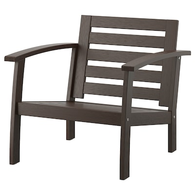 KLÖVEN Armchair, outdoor, black-brown