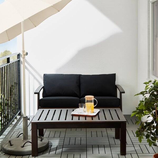 """KLÖVEN Coffee table, outdoor, black-brown, 44 1/2x26 """""""