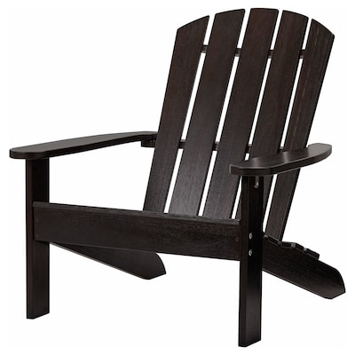 KLÖVEN Deck chair, outdoor, dark brown