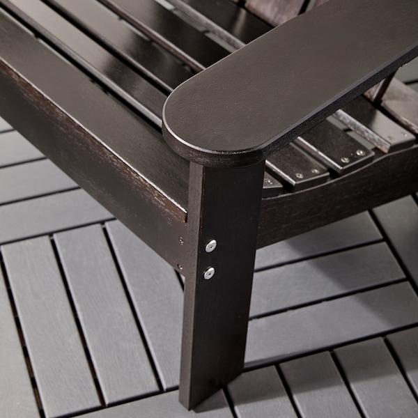 KLÖVEN Deck chair, outdoor, dark brown