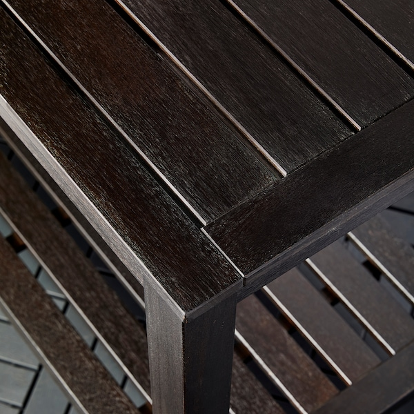 "KLÖVEN sideboard with ice bucket outdoor dark brown 47 1/4 "" 24 3/8 "" 36 1/4 """