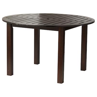 "KLÖVEN Table, outdoor, dark brown, 49 1/4 """