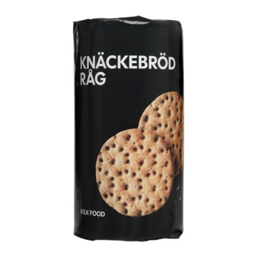 KNÄCKEBRÖD RÅG Rye crispbread IKEA A multigrain crispbread.   Serve for breakfast with an optional topping, or as a snack in-between meals.