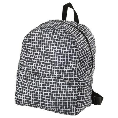 """KNALLA backpack black/white 13 3/4 """" 7 7/8 """" 17 3/4 """" 7 gallon"""