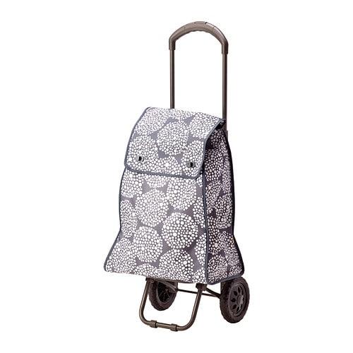 Knalla shopping bag with wheels gray white ikea for Ikea luggage cart