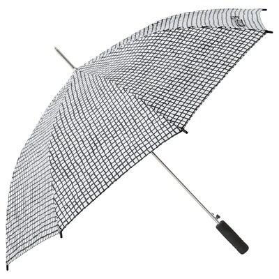 """KNALLA umbrella black/white 31 ½ """" 41 ¼ """""""
