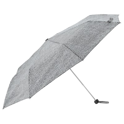 """KNALLA umbrella foldable black/white 9 1/2 """" 22 1/2 """" 37 ½ """""""