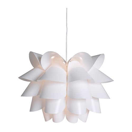 "KNAPPA Pendant lamp, white Diameter: 18 "" Height: 14 ¼ "" Cord length: 15 ' 5 ""  Diameter: 46 cm Height: 36 cm Cord length: 4.7 m"