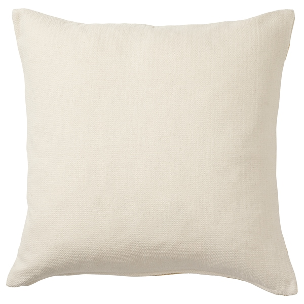 KNIPPARV Cushion, natural golden-yellow/stripe, 20x20 ""