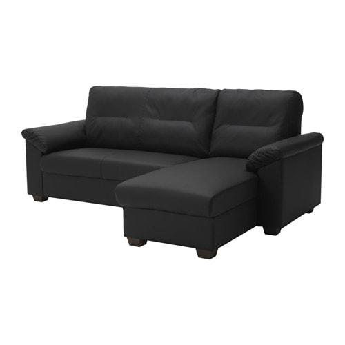 Knislinge Sectional 3 Seat Idhult Black Ikea