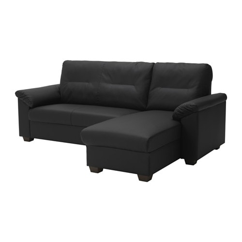 Knislinge sectional 3 seat right idhult black ikea for Ikea knislinge sofa review