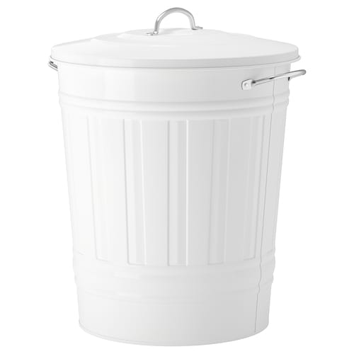 "KNODD bin with lid white 20 1/8 "" 16 1/8 "" 11 gallon"
